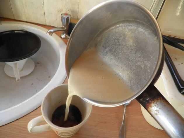 Vlak voor wij de koffie drinken....