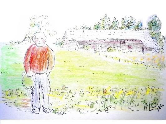 bejaarde boer in Brabant
