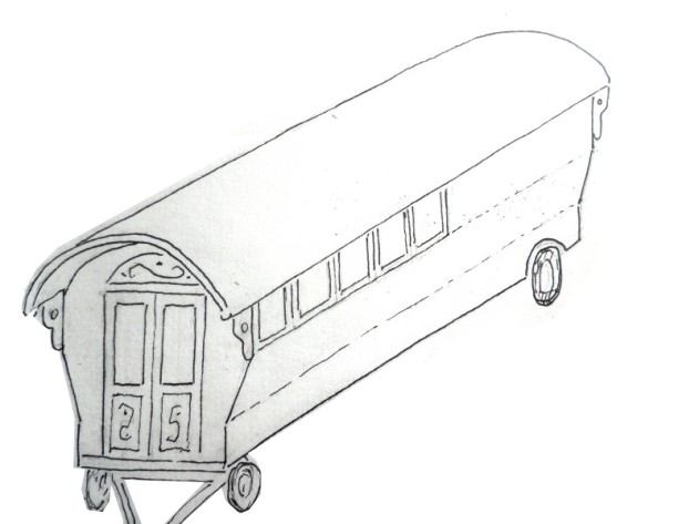 Wiekie's Kolibri, zigeunerwagen