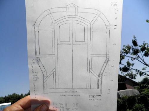 tekening van wiekies woonwagen