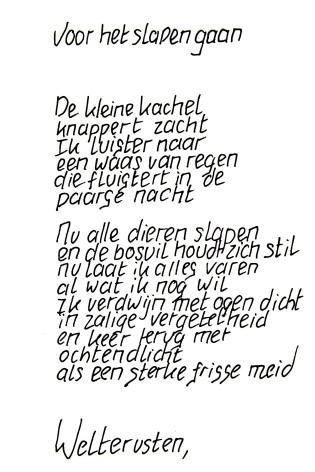 Slapen, een gedicht