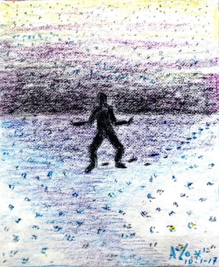 klaarstaan- in de sneeuw
