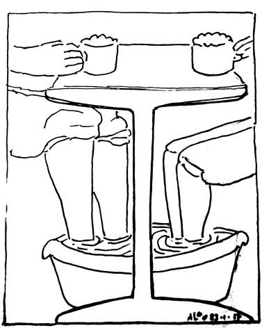 -voetenbadje-onder de tafel