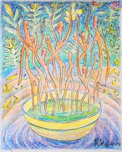 Een loden lucht en lentesoep 18-04-17