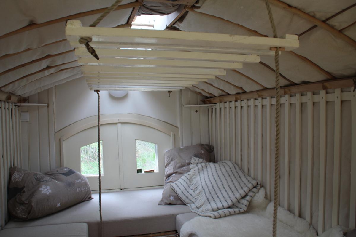 Ophijsbaar beddeel met transparante plaat alowieke - Opklapbaar bedplafond ...